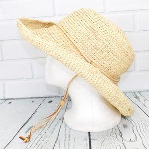 Scala Rattan Light Tan Hat Size L